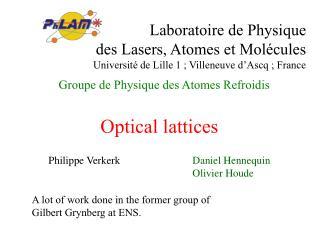 Groupe de Physique des Atomes Refroidis