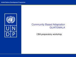 Community Based Adaptation GUATEMALA
