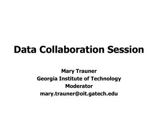 Data Collaboration Session
