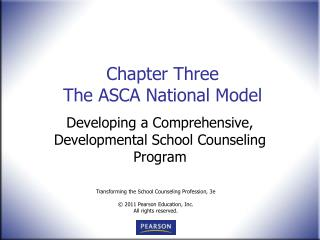 Chapter Three The ASCA National Model
