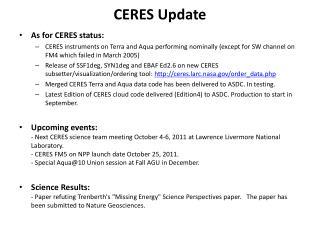 CERES Update