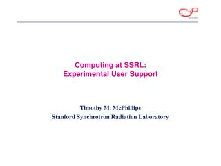 Computing at SSRL:  Experimental User Support
