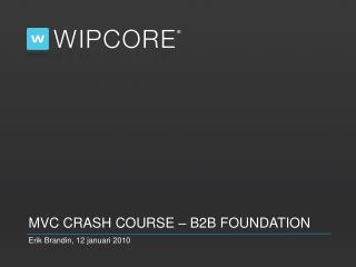 MVC Crash Course – b2b Foundation