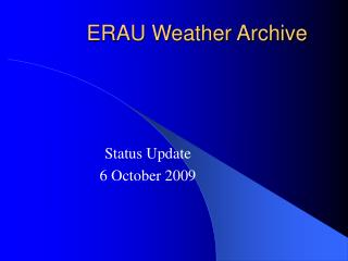 ERAU Weather Archive