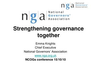 Strengthening governance together