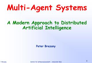 Multi-Agent Systems A Modern Approach to Distributed Artificial Intelligence