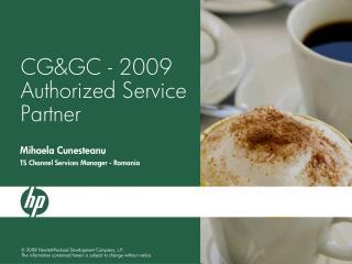 CG&GC - 2009 Authorized Service Partner