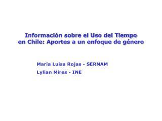 Información sobre el Uso del Tiempo en Chile: Aportes a un enfoque de género