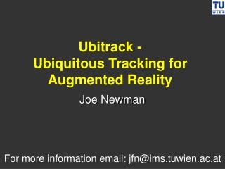 Ubitrack -  Ubiquitous Tracking for Augmented Reality