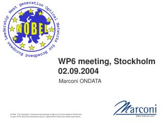WP6 meeting, Stockholm 02.09.2004
