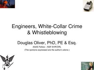 Engineers, White-Collar Crime & Whistleblowing