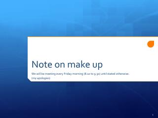 Note on make up