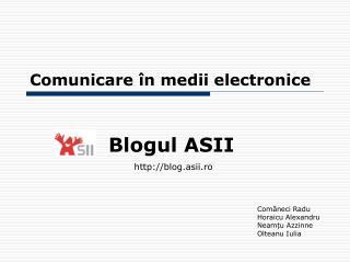 Comunicare în medii electronice