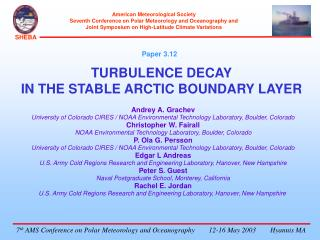 TURBULENCE DECAY  IN THE STABLE ARCTIC BOUNDARY LAYER
