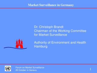 Dr. Christoph Brandt Chairman of the Working Committee for Market Surveillance  Authority of Environment and Health Hamb