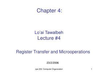 Lo'ai Tawalbeh Lecture #4