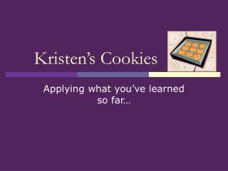 Kristen s Cookies