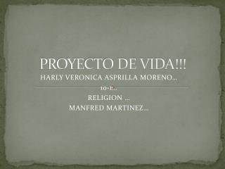 PROYECTO DE VIDA!!!