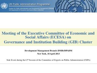 Meeting of the Executive Committee of Economic and Social Affairs (ECESA) on