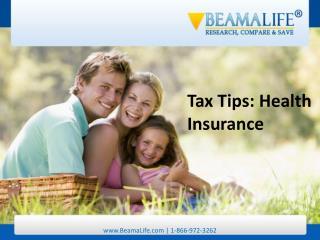 Tax Tips Health Insurance