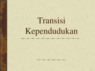 Transisi Kependudukan