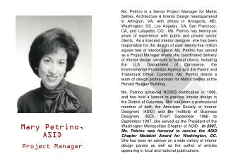 Mary Petrino, ASID Project Manager