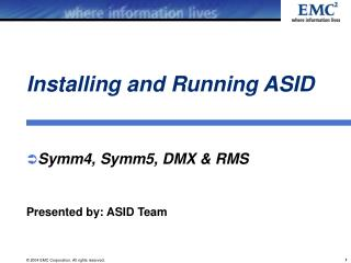 Installing and Running ASID