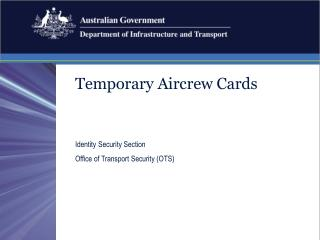 Temporary Aircrew Cards