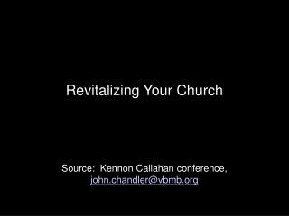 Revitalizing Your Church