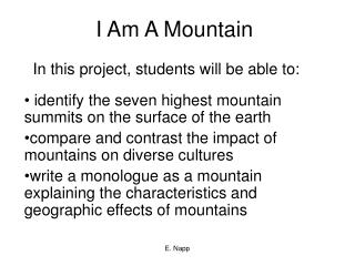 I Am A Mountain