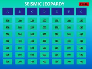 SEISMIC JEOPARDY
