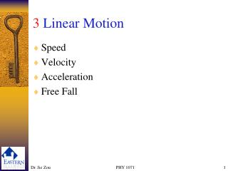3 Linear Motion
