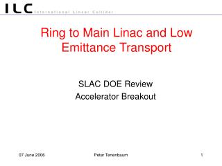 Ring to Main Linac and Low Emittance Transport