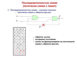 Последователностни схеми (логически схеми с памет)