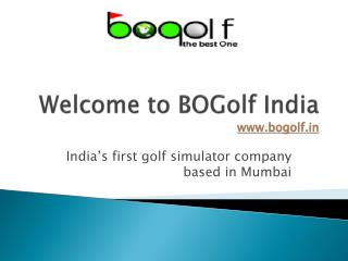 Golf simulator in India