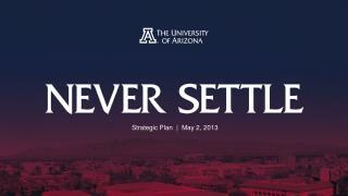 Strategic Plan  |  May 2, 2013