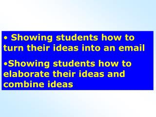 Showing students how to turn their ideas into an email