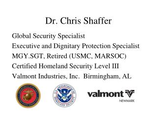 Dr. Chris Shaffer