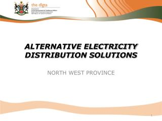 ALTERNATIVE ELECTRICITY DISTRIBUTION SOLUTIONS