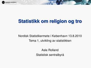 Statistikk om religion og tro
