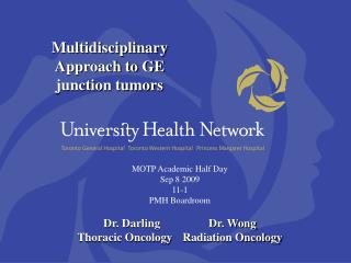 Multidisciplinary Approach to GE junction tumors