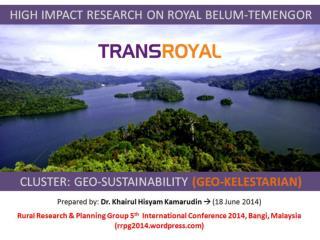 CLUSTER: GEO-SUSTAINABILITY (Geo- Kelestarian )
