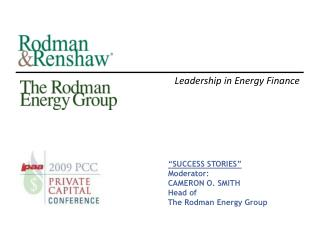 Leadership in Energy Finance