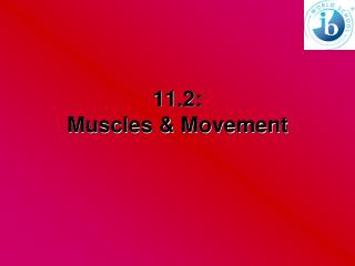 11.2:   Muscles & Movement