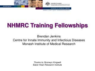 NHMRC Training Fellowships