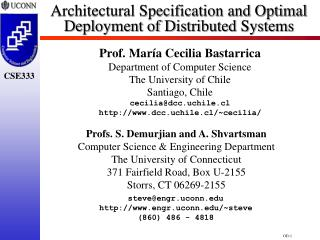 Architectural Specification and Optimal Deployment of Distributed Systems