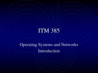 ITM 385