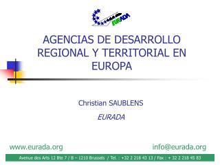 AGENCIAS DE DESARROLLO  REGIONAL Y TERRITORIAL EN EUROPA