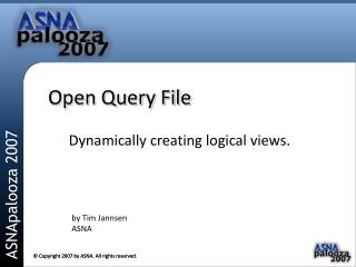 Open Query File