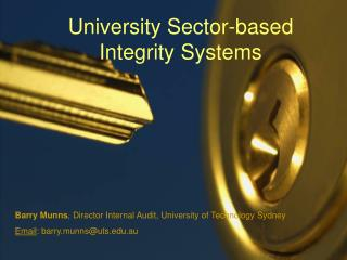University Sector-based Integrity Systems